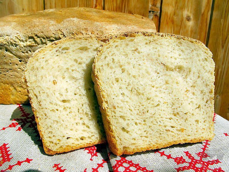 рецепт хлеба для хлебопечки на закваске белье