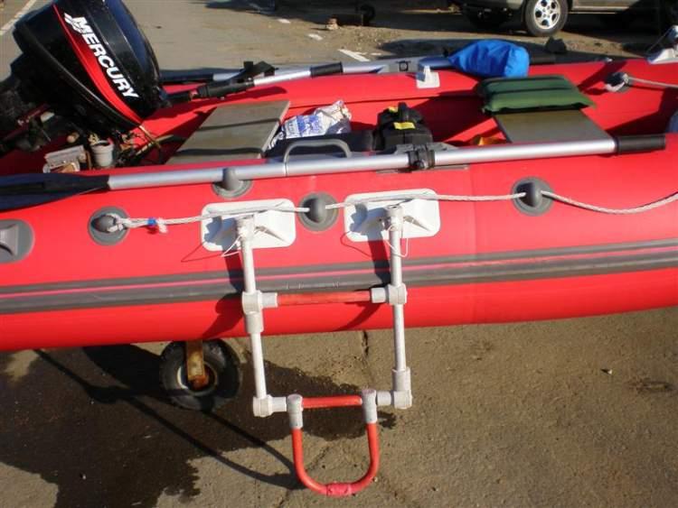 Лестница для пвх лодки своими руками