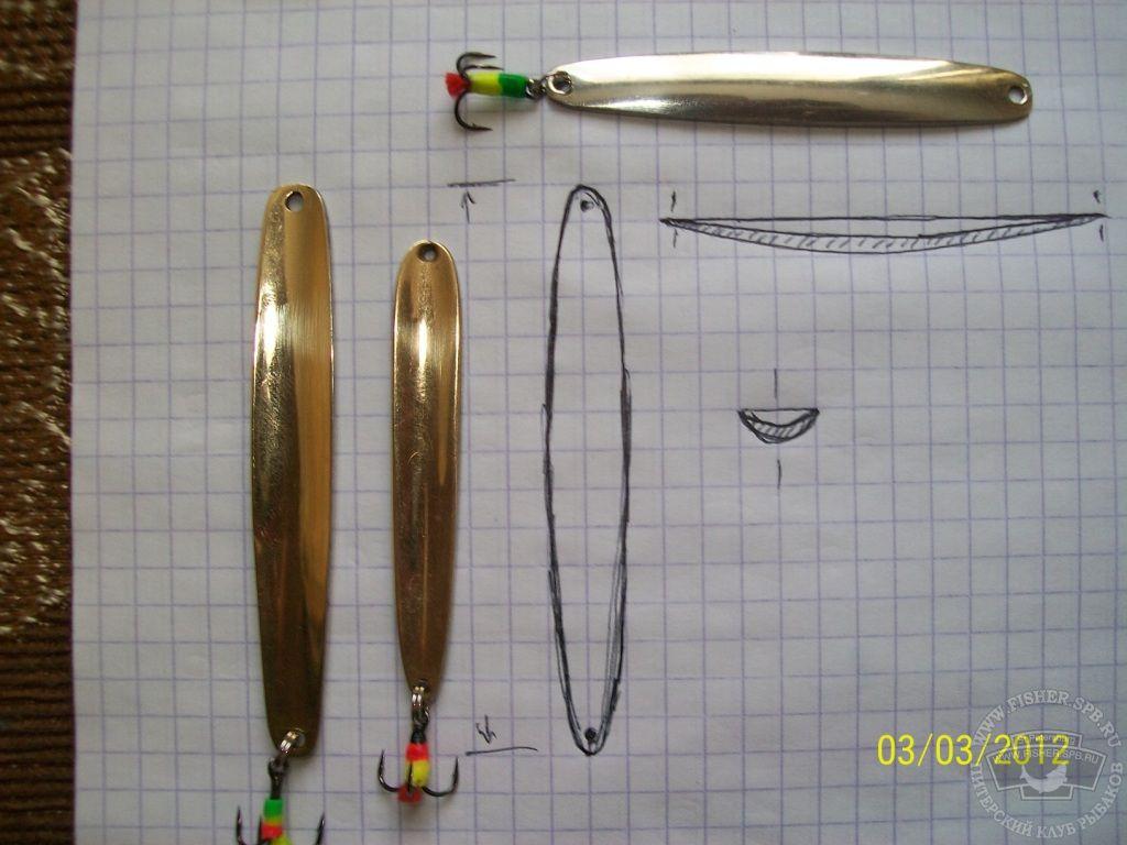 Изготовление зимних блёсен на окуня по чертежам своими руками