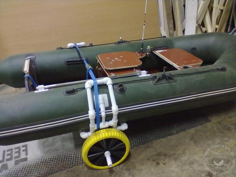 Колёса для лодки пвх своими руками