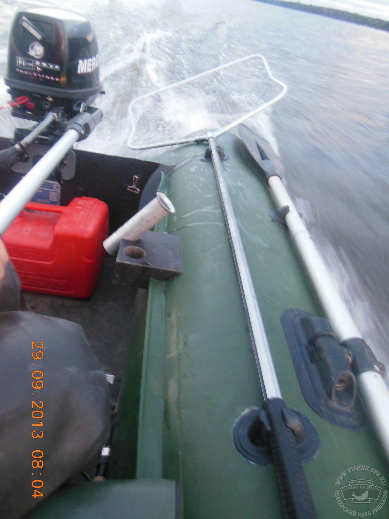 Держатель для спиннинга на лодку пвх своими руками фото